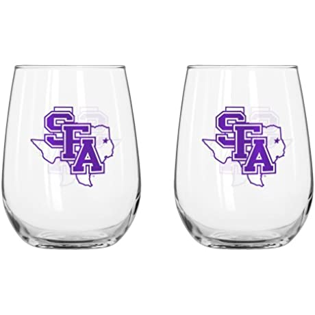 NCAA Curved Beverage Glass 16 Ounce 2 Pack