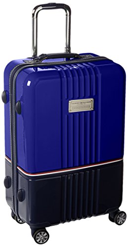 """Tommy Hilfiger Duo Chrome 24"""" Spinner, Luggage, Royal/Navy"""