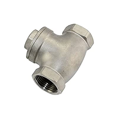 """1"""" Swing Check Valve WOG 200 PSI PN16 Stainless Steel SS316 CF8M NPT from SuperWhole"""
