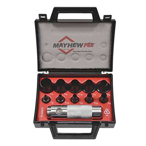 Mayhew Pro 66008 1/8-Inch to 3/4-Inch SAE Hollow Punch Set