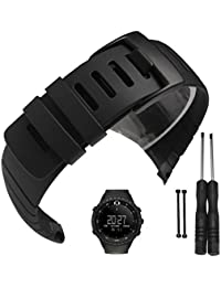 Suunto Core Watch Band Strap, Rubber Watch Replacement Band Strap Accessories for SUUNTO CORE All Black SS014993000/SS013336000/SS013337000