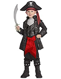 Rubies Costume Co. Pirates of the Seven Seas Child's Captain Black Costume, Small (size 4-6)