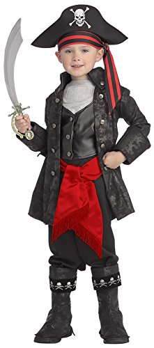 Captain Black Pirate Costume - Pirates of the Seven Seas Child's Captain Black Costume, Small