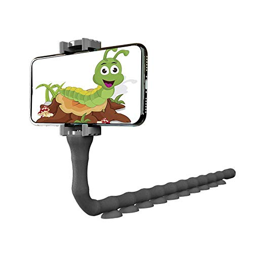 Wrap Around Holder - FOONEE Lazy Bracket Cell Phone Holder, 360 Degree Adjustable Universal Car Suction Cup Mount Phone Stand for Smooth Desk Window Glass Bike Motorcycle