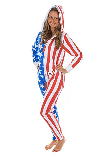 e434b2386b21 Tipsy Elves American Flag Jumpsuit - Comfy USA Clothing Item by ...