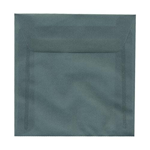 JAM PAPER 6 x 6 Square Translucent Vellum Invitation Envelopes - Ocean Blue - 25/Pack ()