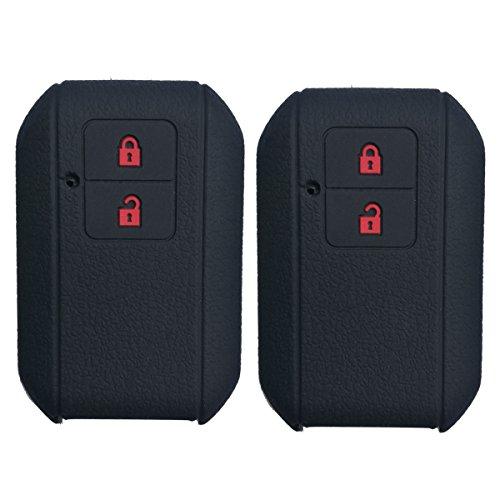 2Pcs Coolbestda 2buttons Key Fob Remote Cover Protector Case Keyless Entry Holder for 2018 2017 Suzuki Swift Wagon R (Suzuki Wagon)