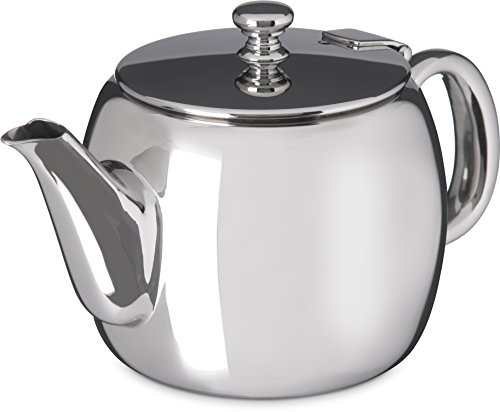 Carlisle 609155 Rhapsody Stainless Steel Tea Server, 14-oz. Capacity, 3-1/2