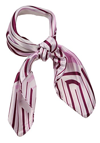 Love Lakeside-Women's Silk Blend Neckerchief Print Square Scarf Retro Purple