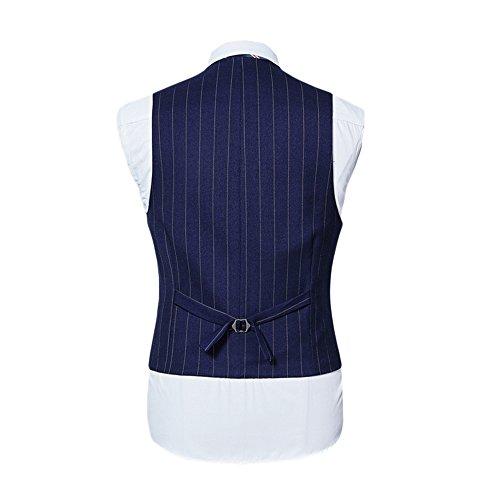 WEEN CHARM Men 3 Pieces Two Button Slim Fit Notch Lapel Suit Jacket Vest & Trousers Set by WEEN CHARM (Image #3)