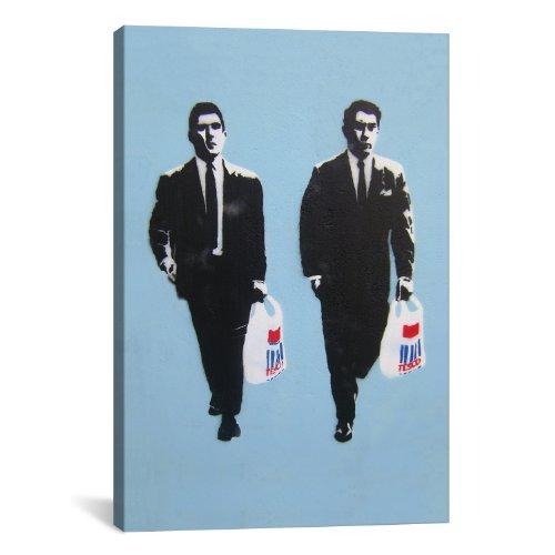 icanvasart-2101-tesco-mafia-canvas-print-by-banksy-12-by-8-inch-075-inch-deep