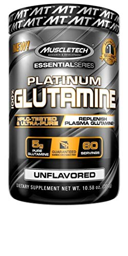 MuscleTech Glutamine Powder, 100% Ultra Pure L-Glutamine for Muscle Endurance & Recovery, 60-Day Supply, 10.65 oz (302g) ()