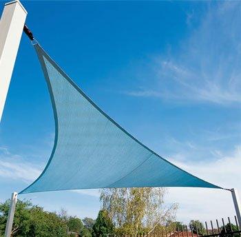 Kookaburra Waterproof Sun Sail Shade Blue – 11ft 10 Triangular
