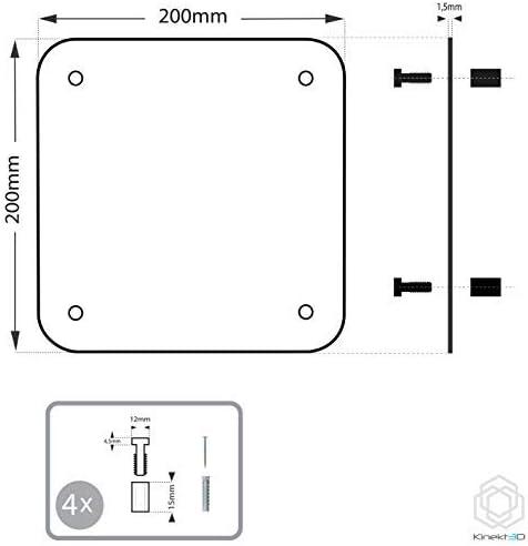 T/ürschild aus 1,5 mm starkem Aluminium /• Inklusive Befestigungsmaterial Wandmontage Kinekt3d Leitsysteme Aluminium Wandschild 200 x 200 mm /• WC Herren /• Hinweisschild