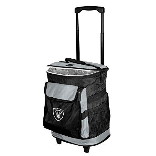 Logo Brands NFL Oakland Raiders Unisex Rolling CoolerRolling Cooler, Black, One Size
