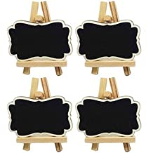 10 Pcs Mini Chalkboard Place Cards Message Board Kids Crafts Home Party Decorations Wedding Table Numbers Food Label Tabletop Birthady Parties Garden Decor (Large)