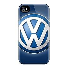 Protective Hard Phone Cases For Iphone 6 With Unique Design Trendy Volkswagen Logo Skin InesWeldon
