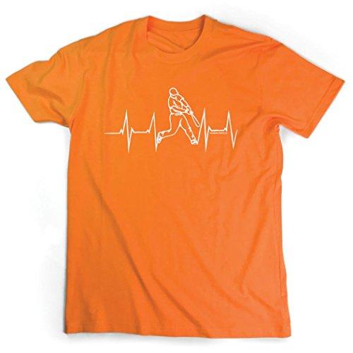 Baseball Jersey Orange Axl (Heart Beat Baseball T-Shirt   Baseball Tees by ChalkTalkSPORTS   Orange   Adult X-Large)