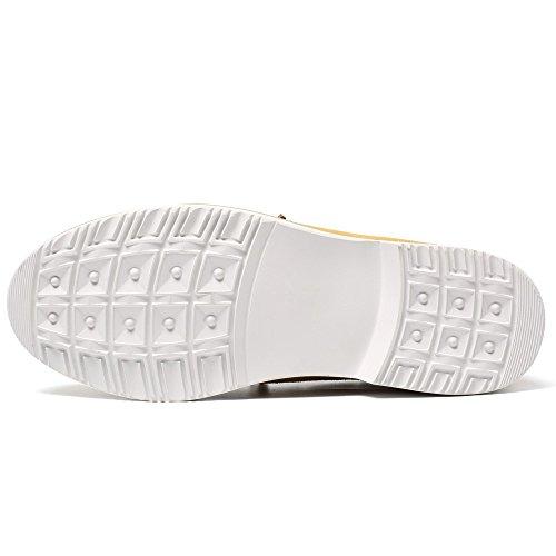 Jaune cm Chaussure Grand Ville Homme 6 d'affaires pour CHAMARIPA DE Plus Occasionnels rehaussante Cuir 7dqRwHOp