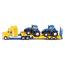 Siku Super 1805 Truck with Two New Holland Tractors 1:87 Scale