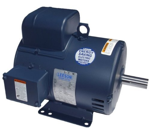 Leeson 131537.00 General Purpose ODP Motor, 1 Phase, 184T Frame, Rigid Mounting, 5HP, 1800 RPM, 208-230V Voltage, 60Hz Fequency
