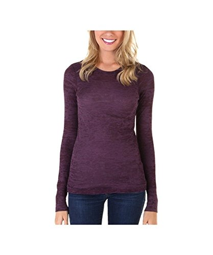 Burnout Sleeve Long Thermal (Next Level The Burnout Thermal - Plum - S)