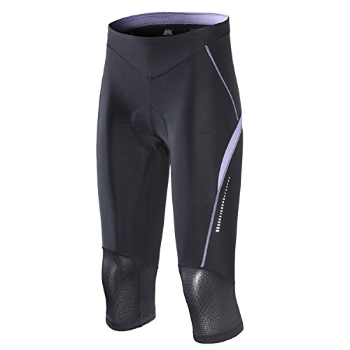 - My Kilometre 3/4 Womens Cycling Shorts, 3D Gel Padding, Girls Active Bike Pants Tight(Medium, Purple)