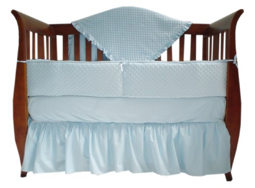 TL-Care-Heavenly-Soft-Minky-Dot-4-Piece-Crib-Set