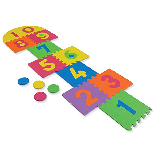 Edu Mat - Chenille Kraft Wonderfoam Foam Hopscotch Mat, Set of 14