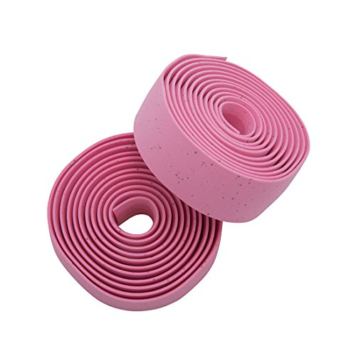 Pink Handlebar (Planet Bike Comfort GEL Road Bike Handlebar Tape with Reflective Bar Plugs (Pink Cork))