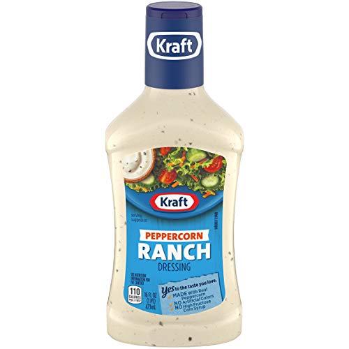 Kraft Peppercorn Ranch Dressing, 16 fl oz Bottle