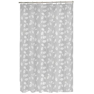 "Maytex Mills 60090 Just Leaves  Shower Curtain,  White - Material: PEVA ( 100 %) Printed peva vinyl shower curtain Dimensions: 70 "" H x 72 "" W - shower-curtains, bathroom-linens, bathroom - 413Md4wI5pL. SS400  -"