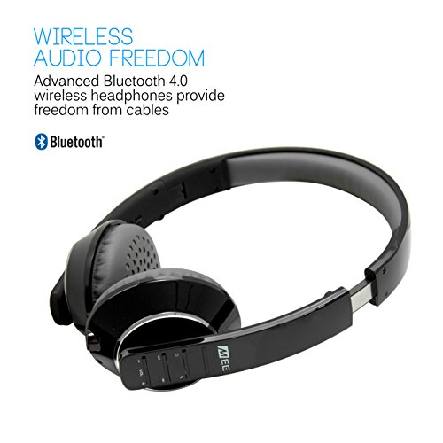 mee audio runaway 4 0 bluetooth stereo wireless wired headphones with microphone black buy. Black Bedroom Furniture Sets. Home Design Ideas