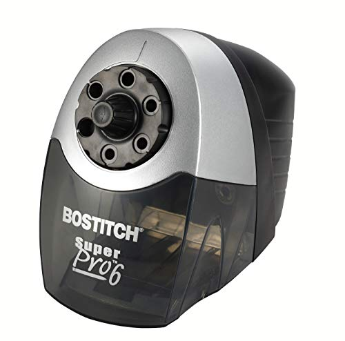 Bostitch SuperPro 6 Extra Heavy Duty Classroom Commercial Electric Pencil Sharpener, 6-Holes, Black/Gray (EPS12HC) ()