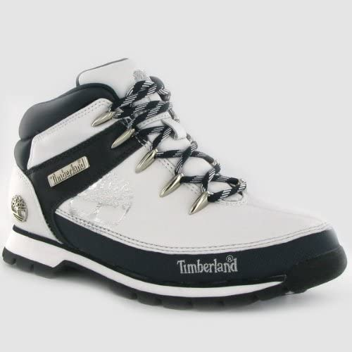 Ahora Rebobinar ayer  Timberland Euro Sprint White Blue Leather Mens Boots: Amazon.co.uk: Shoes &  Bags