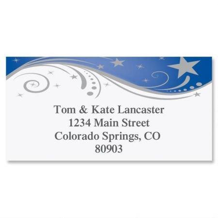 (Splendid Star Personalized Border Return Address labels- Set of 144 1-1/8