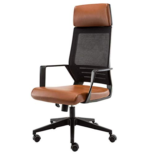 Ace lby Office Armchair, Ergonomic Office Chair, Modern Minimalist Home Lounge Chair, One-Piece Back Breathable Mesh Wide Headrest, Bearing Weight 180kg
