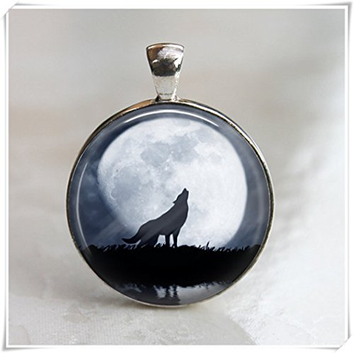 Beware the Full Moon Pendant, Necklace Ashen Sorrow,Glittering