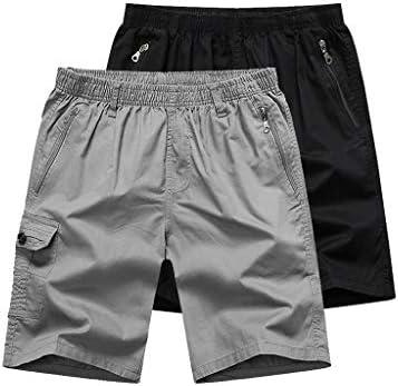 LF- 夏のメンズショートパンツコットンルーズ大きいサイズのメンズカジュアル五点パンツメンズショートパンツを着用してください 快適な (Color : Light gray+black, Size : 4XL)