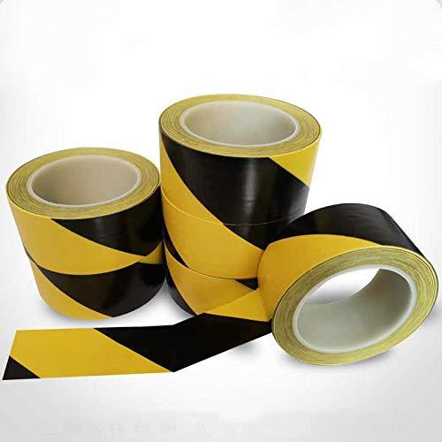 advertencia de peligro cinta adhesiva de advertencia de marcado 5 cm x 33 m cinta de barrera cinta de marcado de piso de PVC Cinta de Seguridad amarillo//negro Cinta de Advertencia