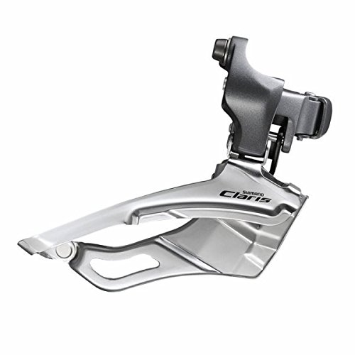 SHIMANO FD-2403 3x8-Speed Claris Front Derailleur, Silver, 34.9mm