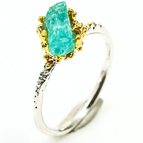 - Handmade Fine Art Jewelry Natural Apatite Size 7.25 us Sterling Silver 925