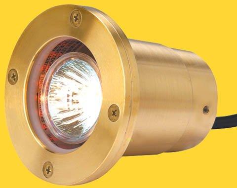 (Corona CL-324-BR -Low Voltage/ 12V Well Light Brass Lensed, Natural Brass)