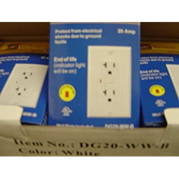 Gfi Gfci Outlet 20 Amp 120 V 10 Pack White - Ground Fault Circuit ...