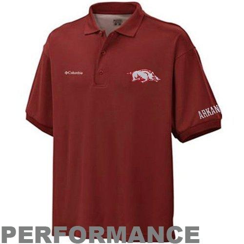 (NCAA Arkansas Razorbacks Men's Collegiate Perfect Cast Polo T-Shirt, Beet, XX-Large)