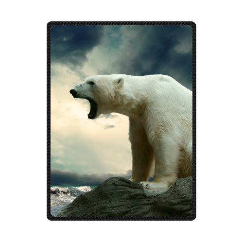 - Custom Cute Polar Bear super soft fleece blanket 58