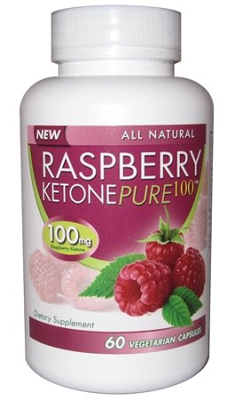 Raspberry Ketone Pure 100! No Fillers or Additives - Veggie Caps!