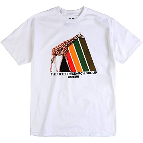 LRG Men's Riddim Prisim T-Shirt, White, XL - Lrg Print Jersey