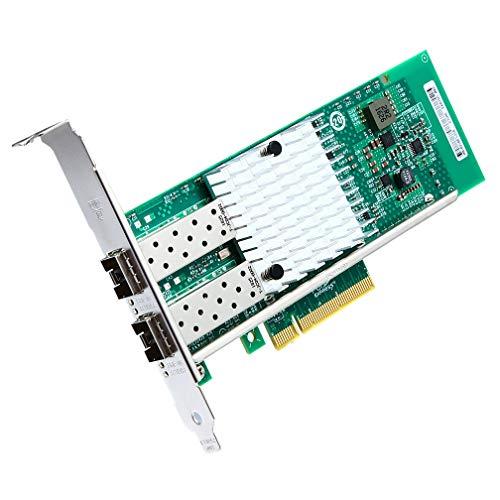 10Gb PCI-E Network Card X520-DA2, Dual SFP+ Ports for Intel 82599ES Chipest, 10G PCI Express NIC Support Windows Server, Win 7/8/10/Visa, Linux, VMware