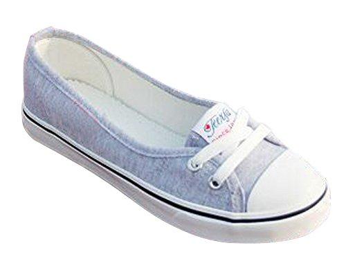 Punta Redonda Zapatos Moda Minetom Zapatos Lona Ocio Mujer Tacón Chicas Espadrilles gris Plano wqAYXpR